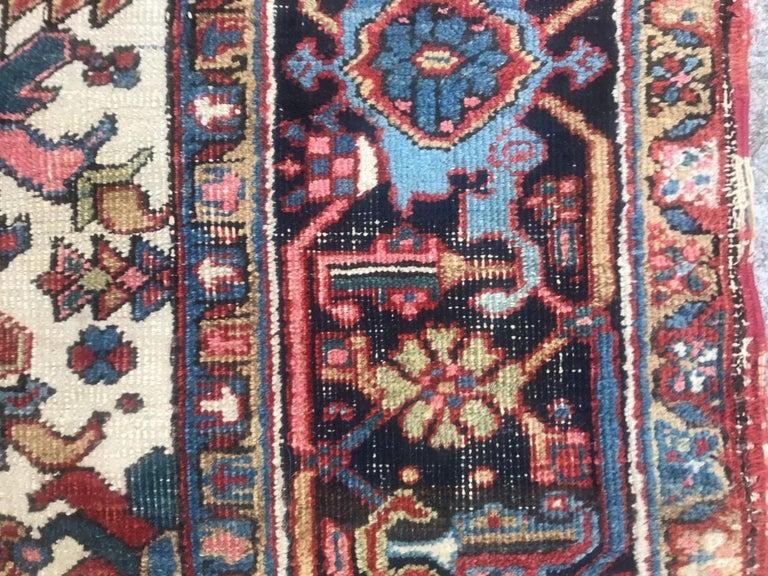 Very Beautiful Antique Heriz Rug For Sale 10