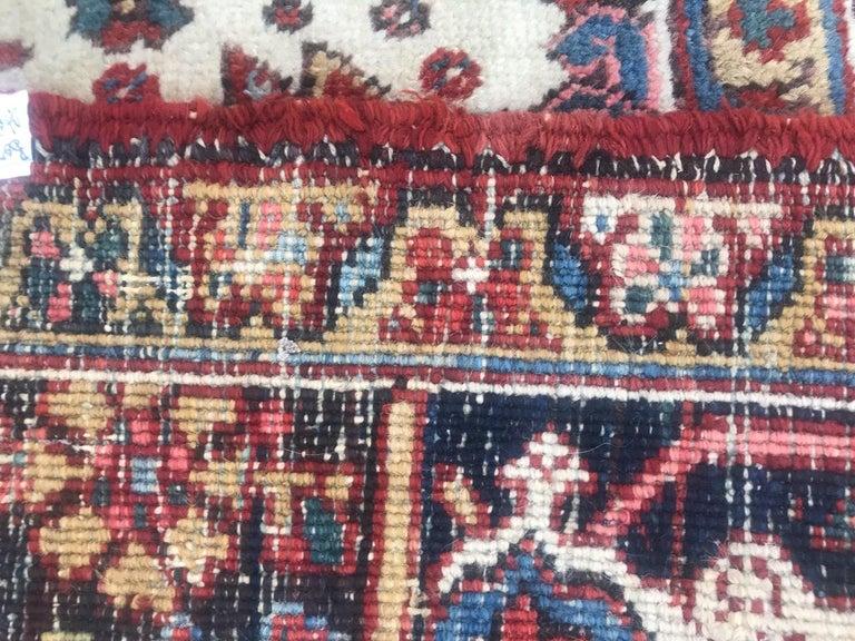 Very Beautiful Antique Heriz Rug For Sale 11