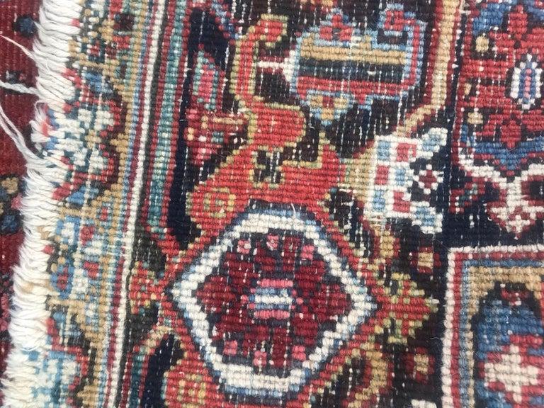 Very Beautiful Antique Heriz Rug For Sale 12