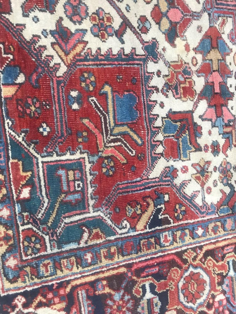 Asian Very Beautiful Antique Heriz Rug For Sale