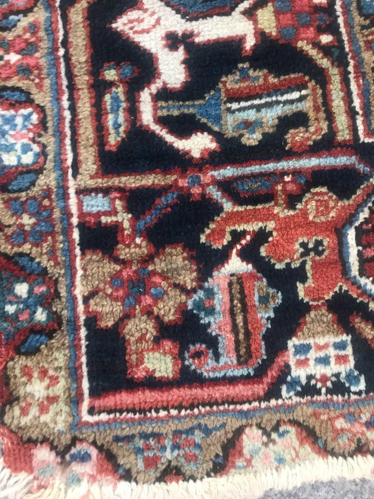 Wool Very Beautiful Antique Heriz Rug For Sale