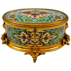 Very Beautiful Box in Gilt and Chiselled Bronze
