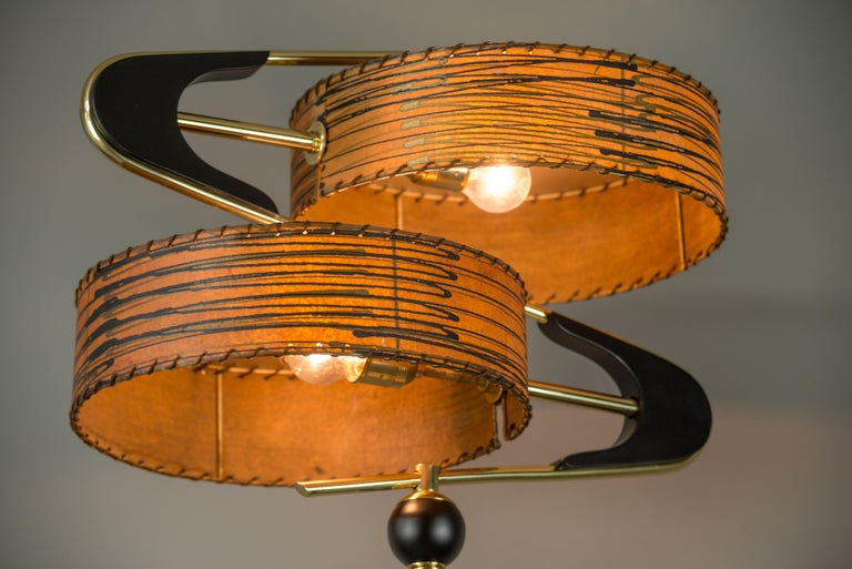 Very Beautiful Floor Lamp, Italy, 1950s In Good Condition In Wien, AT
