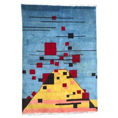 Very Beautiful Modern Hand Knotted Rug