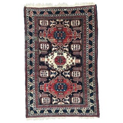 Very Beautiful Vintage Fine Caucasian Chirwan Rug