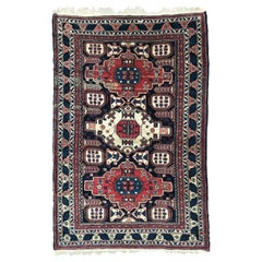 Very Beautiful Vintage Fine Caucasian Chirwan Rug