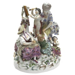 """Very Big and Old Meissen Porcelain Figure Group """"The Love School''"""