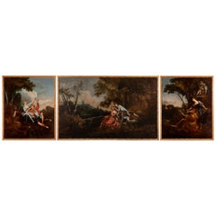 Very Big Triptych, 18th Century, Follower of François Boucher