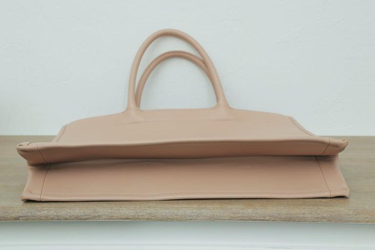 Christian Dior Rose de Vent Calfskin Book Tote For Sale 6