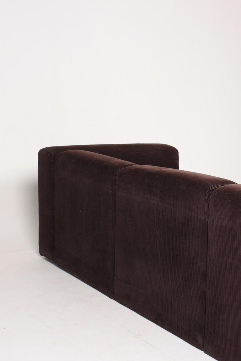 Very Comfortable Midcentury Sofa in Corduroy, 1970s For Sale 3