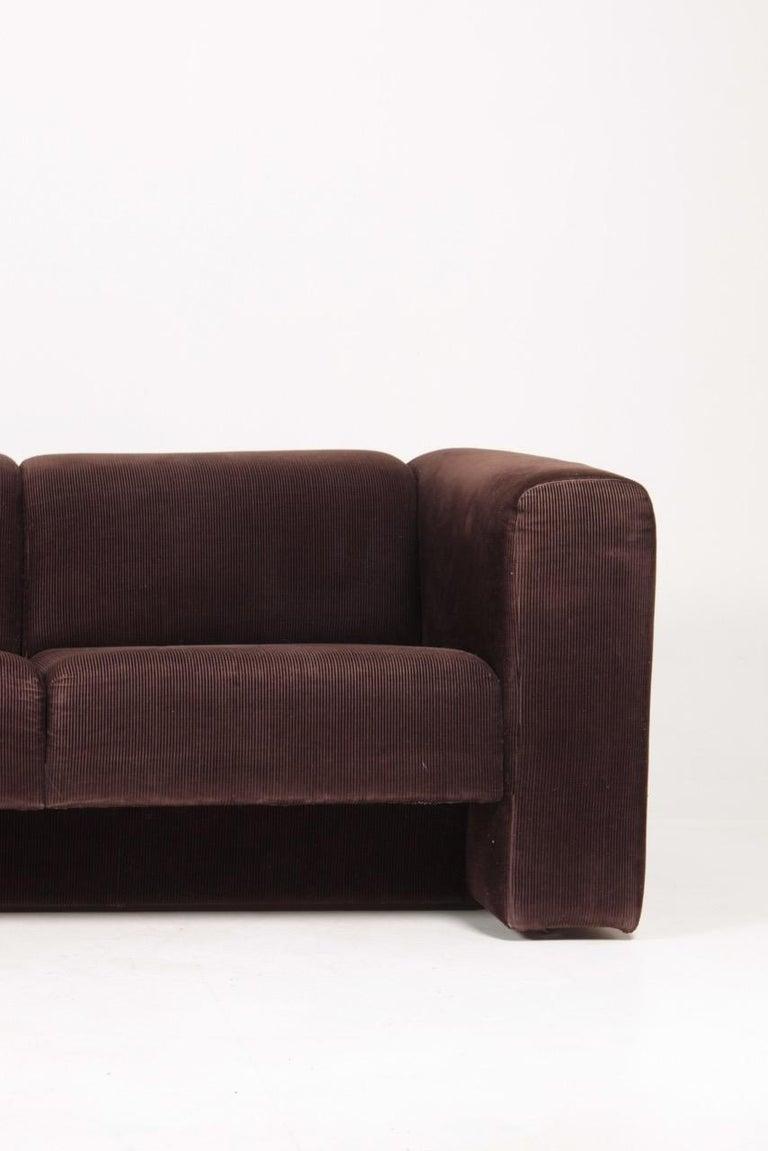 Scandinavian Modern Very Comfortable Midcentury Sofa in Corduroy, 1970s For Sale