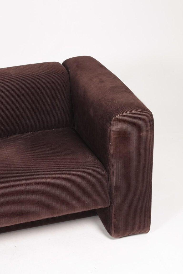 Danish Very Comfortable Midcentury Sofa in Corduroy, 1970s For Sale
