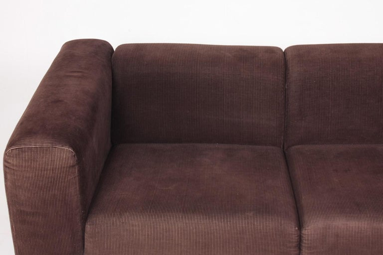 Late 20th Century Very Comfortable Midcentury Sofa in Corduroy, 1970s For Sale