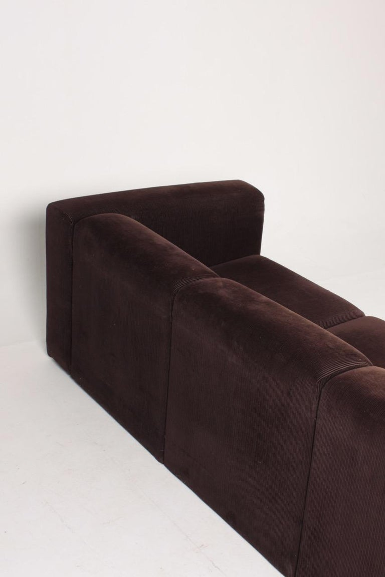 Very Comfortable Midcentury Sofa in Corduroy, 1970s For Sale 2