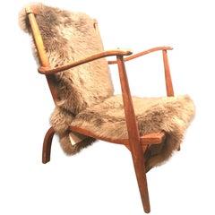 Very Early Danish Mid-Century Modern Lounge Chair