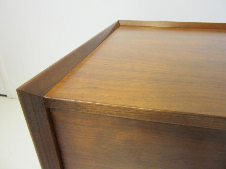 American Very Early Jens Risom Walnut Mid Century Desk Model D-140 For Sale