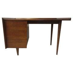 Very Early Jens Risom Walnut Mid Century Desk Model D-140
