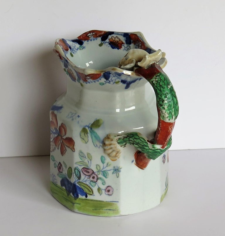 Very Early Mason's Ironstone Jug or Pitcher Vase & Jardinière Pattern circa 1815 For Sale 3