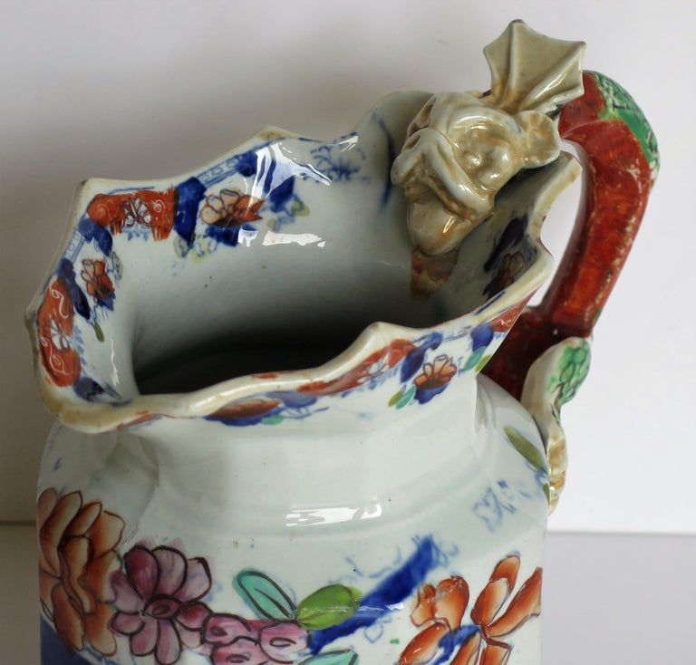 Very Early Mason's Ironstone Jug or Pitcher Vase & Jardinière Pattern circa 1815 For Sale 4