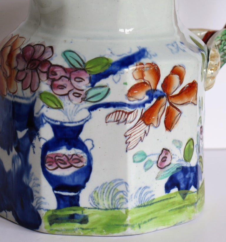 Very Early Mason's Ironstone Jug or Pitcher Vase & Jardinière Pattern circa 1815 For Sale 6