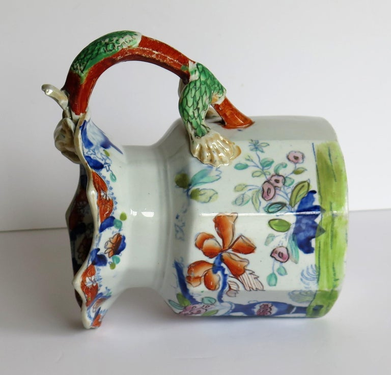 Very Early Mason's Ironstone Jug or Pitcher Vase & Jardinière Pattern circa 1815 For Sale 7