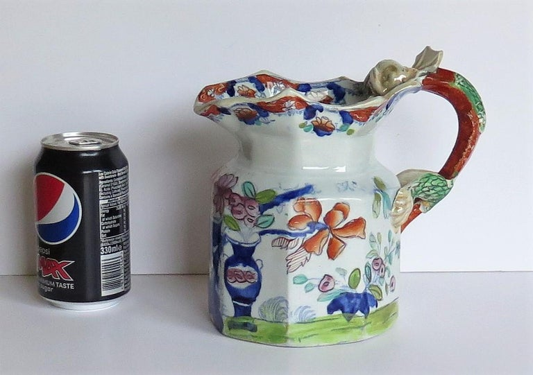 Very Early Mason's Ironstone Jug or Pitcher Vase & Jardinière Pattern circa 1815 For Sale 13