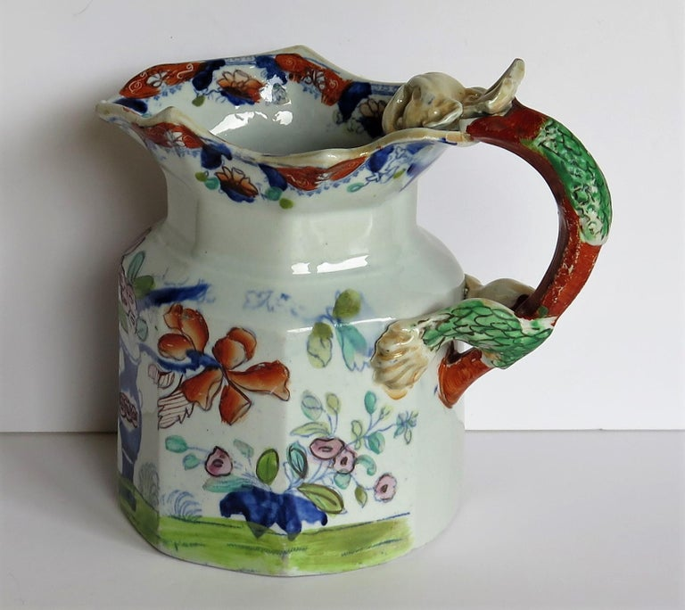 George III Very Early Mason's Ironstone Jug or Pitcher Vase & Jardinière Pattern circa 1815 For Sale