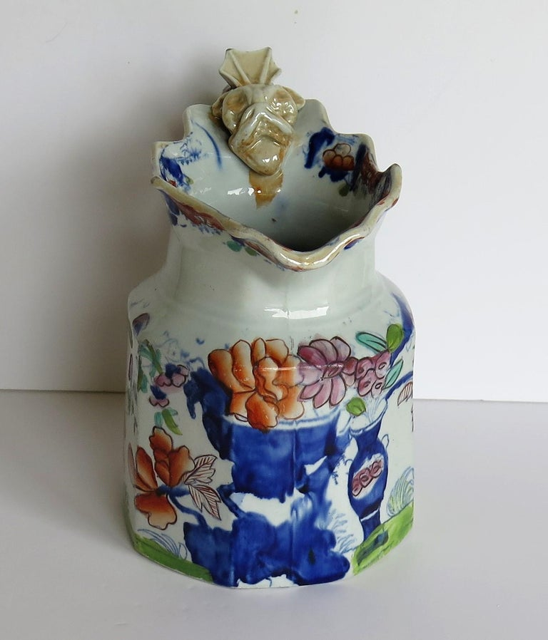 19th Century Very Early Mason's Ironstone Jug or Pitcher Vase & Jardinière Pattern circa 1815 For Sale
