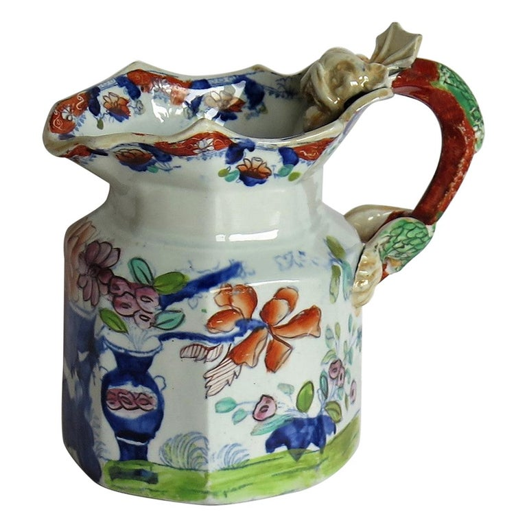 Very Early Mason's Ironstone Jug or Pitcher Vase & Jardinière Pattern circa 1815 For Sale
