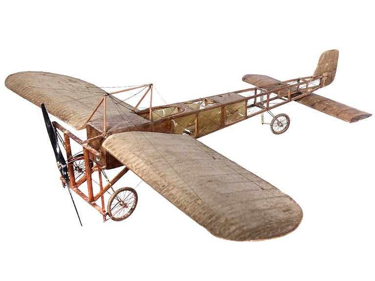 Very Early Model of a 1909 Louis Bleriot Aircraft In Good Condition For Sale In Peekskill, NY