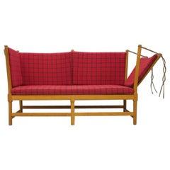 Very Early Spokeback Sofa by Borge Mogensen for Fritz Hansen Lis Ahlmann 1963