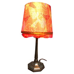 Very Elegant Antique Art Deco Table Lamp in Cast Alloy