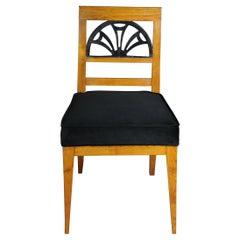 Very Elegant Biedermeier Chair, Birch, 19th Century