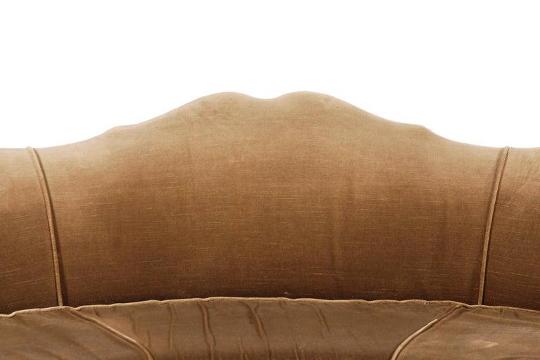 Very Elegant French Art Deco Sofa with Original Velvet Upholstery, 1930s For Sale 2