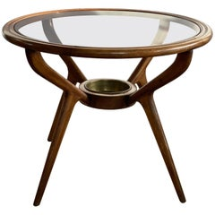 Very Elegant Gio Ponti Style Round Coffee Table