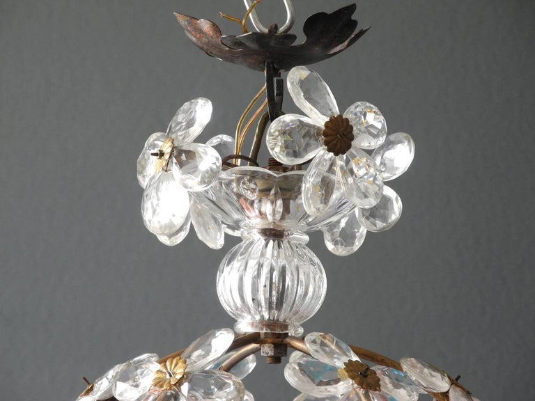 Very Elegant Rare 1960s Christoph Palme Colorful Glass Ceiling Lamp For Sale 2