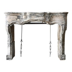 Very Exclusive Antique Fireplace from the 19th Century in Style of Louis XV