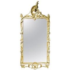 Very Fine 18th Century Rococo Period Giltwood Mirror, Continental Circa 1760