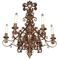 Very Fine and Elegant Baroque Style Iron Chandelier