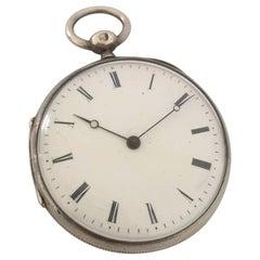 Very Fine Antique Silver Key-Wind Pocket Watch