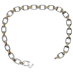 Very Fine Cartier Santos Gold or Stainless Steel Chain Bracelet