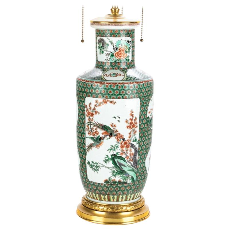 Very Fine Chinese Porcelain Vase Mounted as Table Lamp