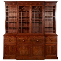 Very Fine George IV Breakfront Bookcase