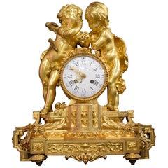 Very Fine Gilt Bronze Clock