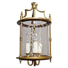 Very Fine Gilt Bronze & Cut Crystal Lantern