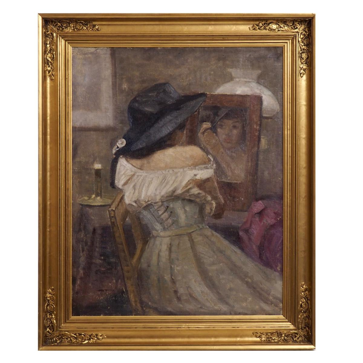 Very Fine Impressionist Painting, Signed, Oil on Canvas, circa 1880-1910
