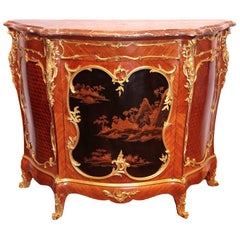 Very Fine Lacquer Chinoiserie side cabinet by Victor Raulin