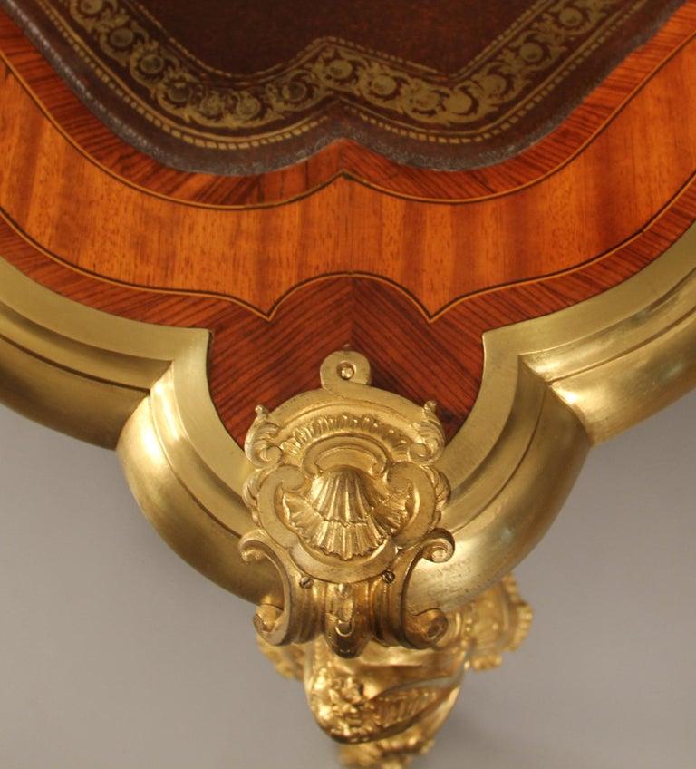 Very Fine Late 19th Century Gilt Bronze Mounted Kingwood Bureau Plat For Sale 1