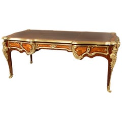 Very Fine Late 19th Century Gilt Bronze Mounted Kingwood Bureau Plat