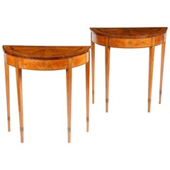 Very Fine Pair of 18th Century Irish Satinwood Console Tables